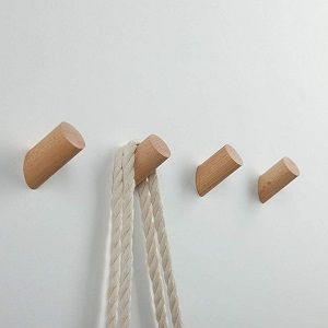 perchero de pared en madera
