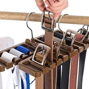 perchas para corbatas y cinturones y pañuelos